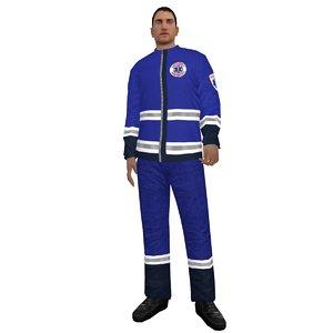3d rigged paramedic model