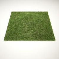 C4D realistic grass