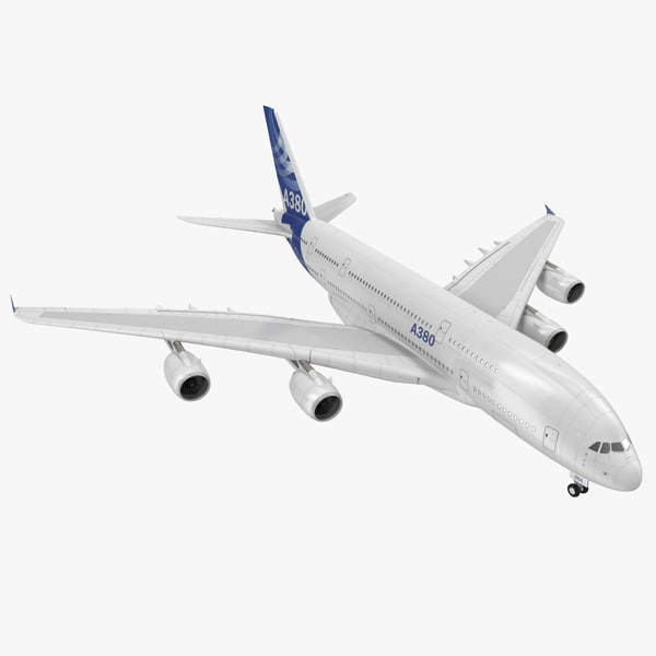 3d 3ds jet airliner airbus a380