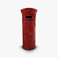 old post box 3d fbx