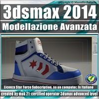 3ds max 2014 Modellazione Avanzata shoes Subscription
