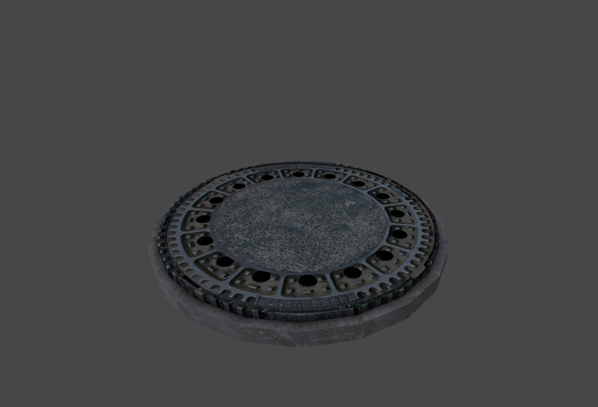 3d model manhole hole