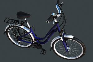 lady cycle 3d model