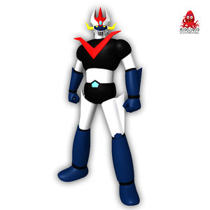 great mazinger 3d obj