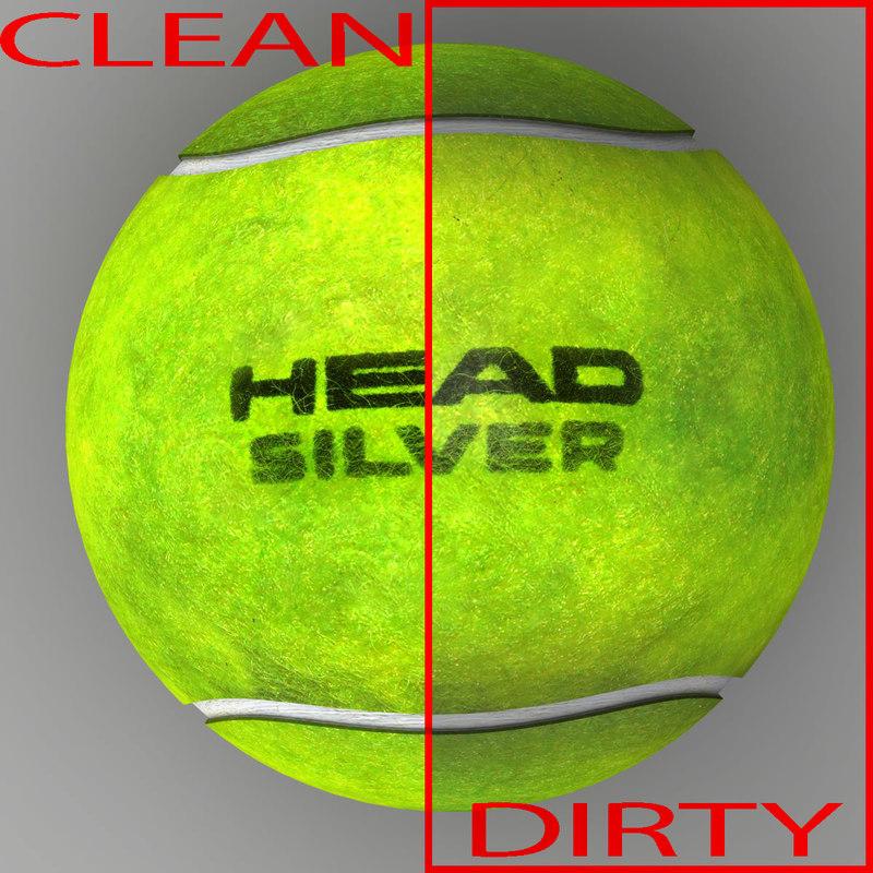 3d tennis ball head model