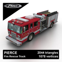 3d model pierce rescue truck