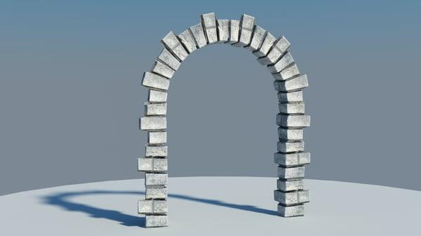 free obj model medieval gate