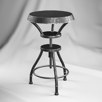Austin Iron Adjustable Bar Stool