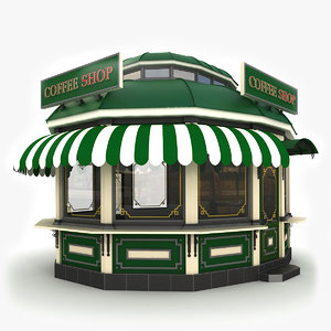 3ds max fast food kiosk