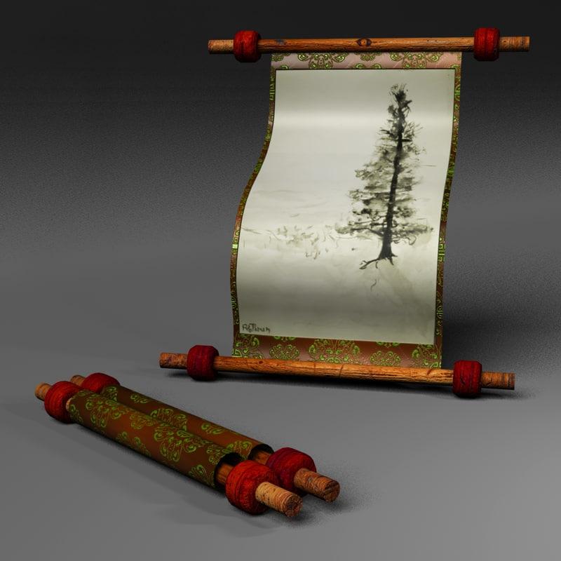 roll scroll obj