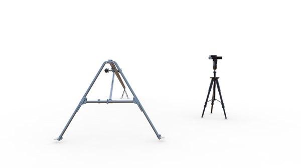 3d model rocket drone launch