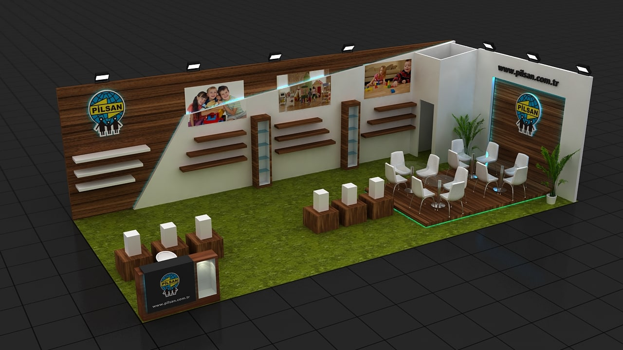 Exhibition Stand Design 3d Max : Fair stand exhibition design d max