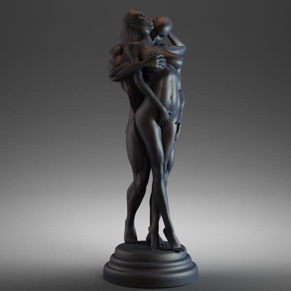 3d model of man woman