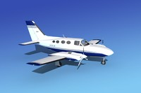 3d scale cessna 421 golden eagle model