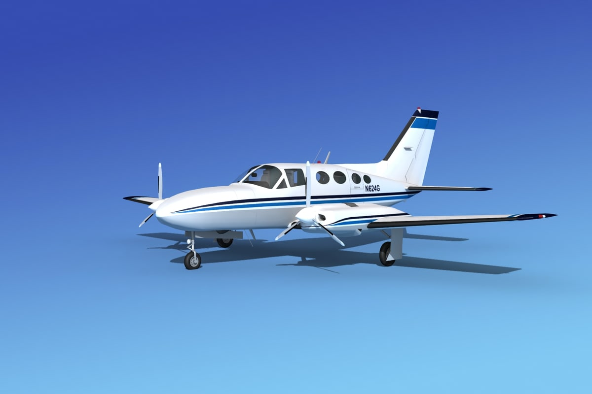 scale cessna 421 golden eagle dxf