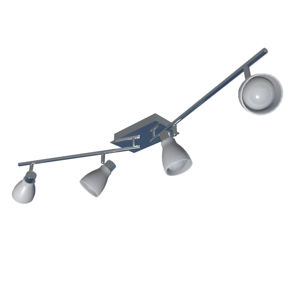 3d 4 head swievel light fixture