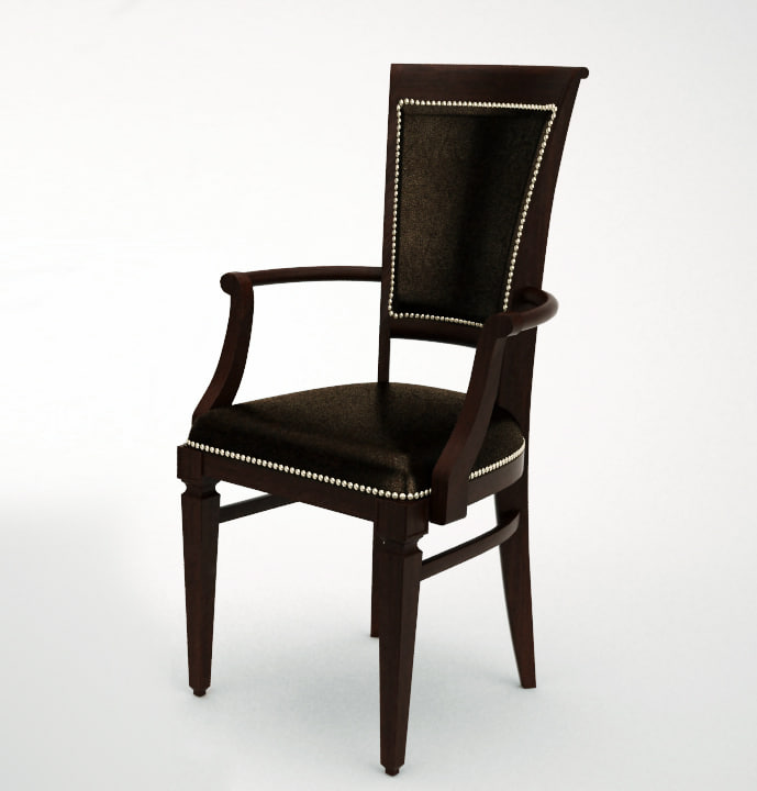 classic leather chair 3d model