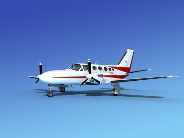 scale cessna 425 conquest 3d dxf