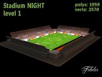 stadium level 1 3d c4d
