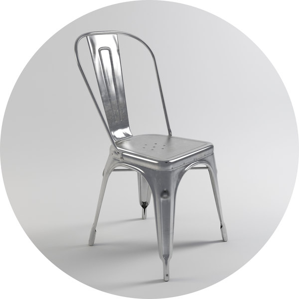 3d chair - varnished raw