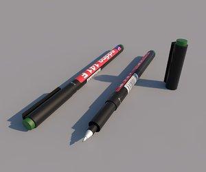 3d edding marker