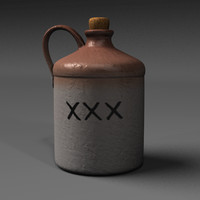 jug bottle obj