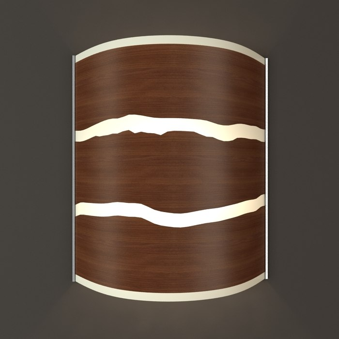 hudson wide walnut strip 3d model