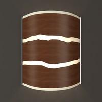 hudson wide walnut strip 3d model