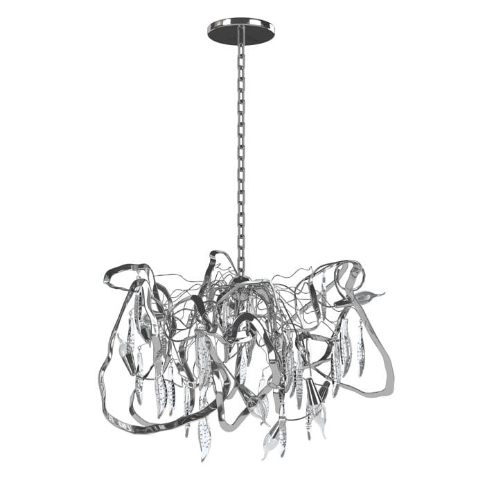 hudson dc100n delphinium pendant light 3d model