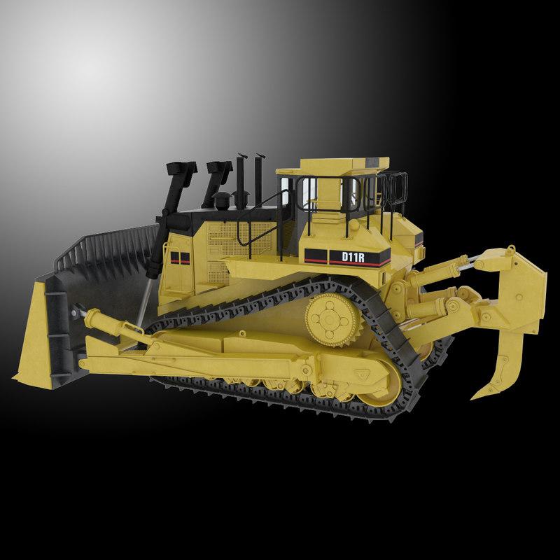 dozer bulldozer d11 3d max
