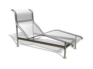 3d model contour chaise longue