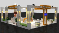 3ds max fair stand exhibition wooden