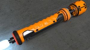 handheld industrial laser cutter 3d c4d