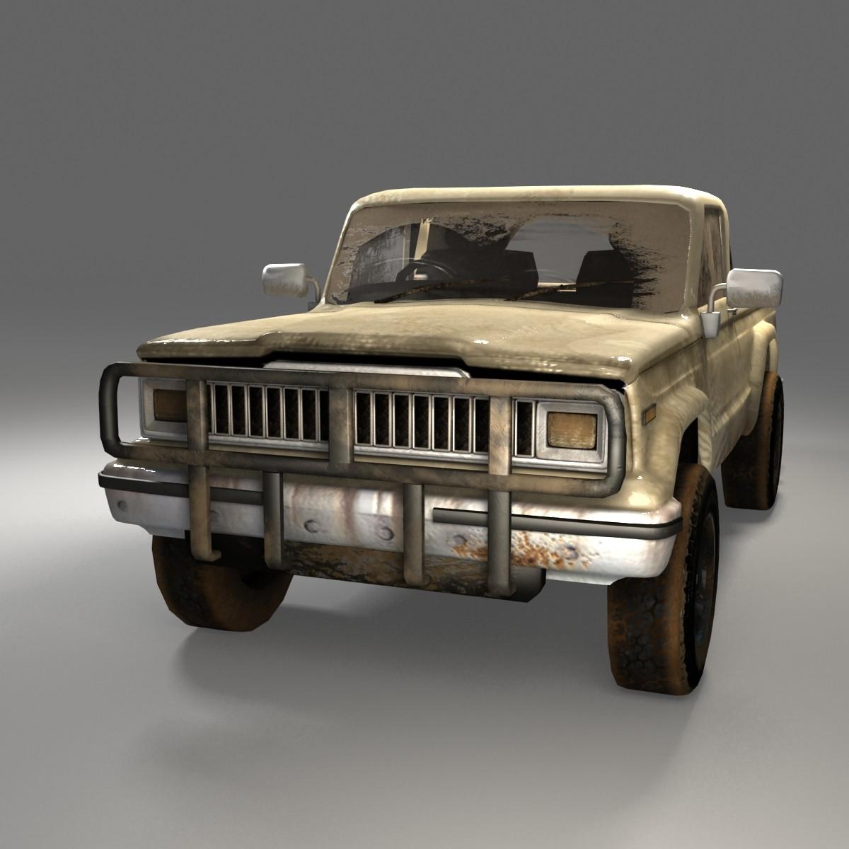 jeep j20 truck 3d max