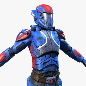 3d sci-fi armor female 2 model