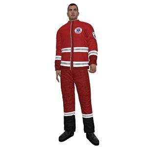 3d rigged paramedic