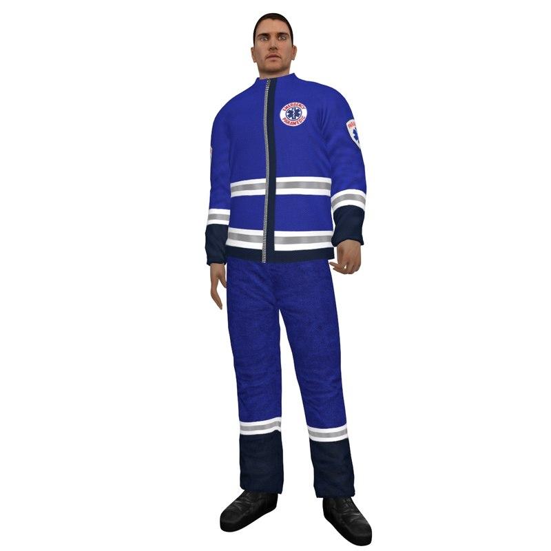 rigged paramedic 3d max