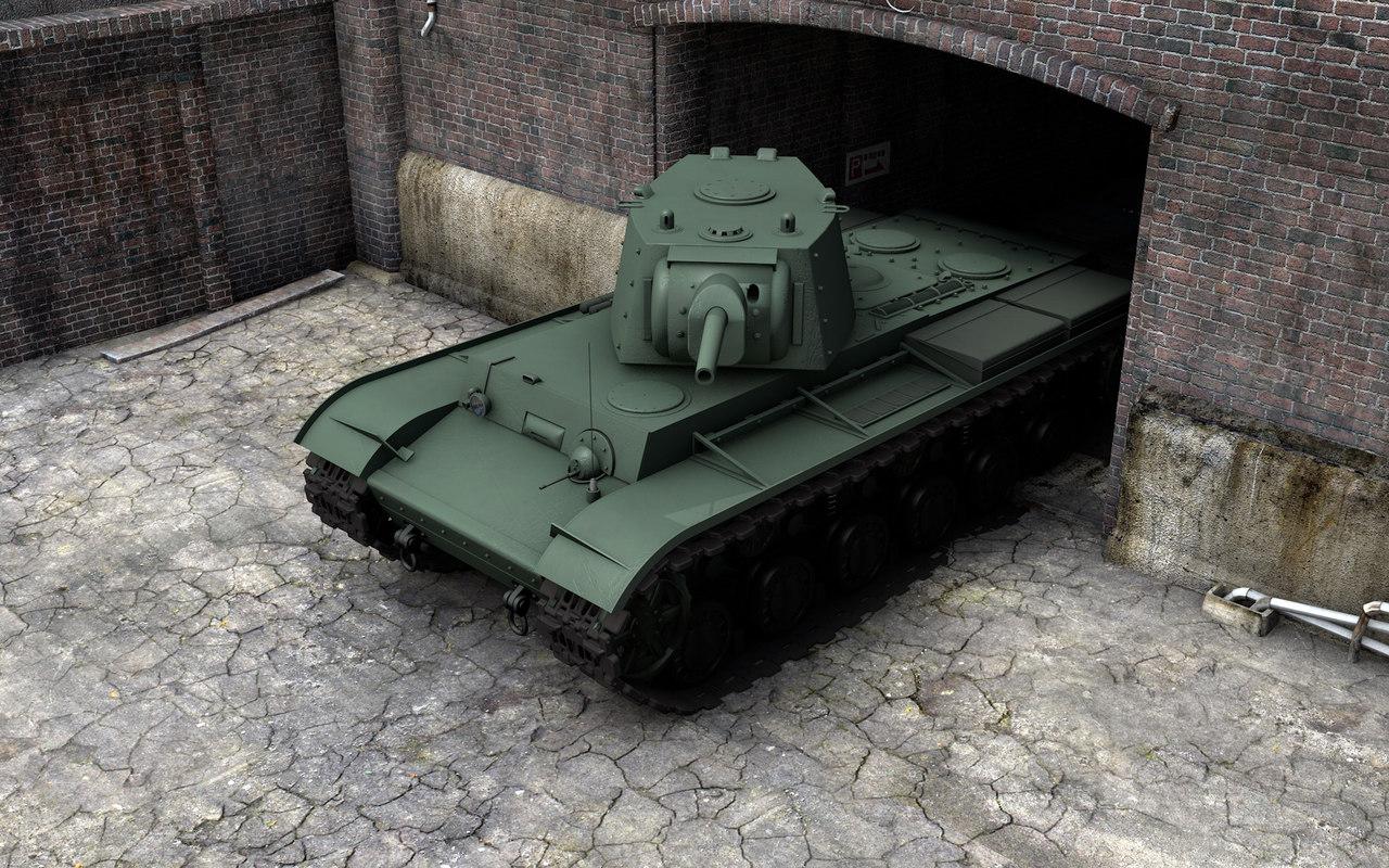 hq soviet kv-1 3d model