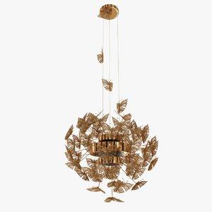 3d butterflies nymph chandelier