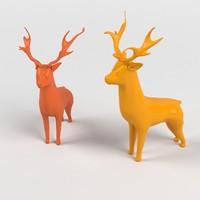 toy deers 3d max