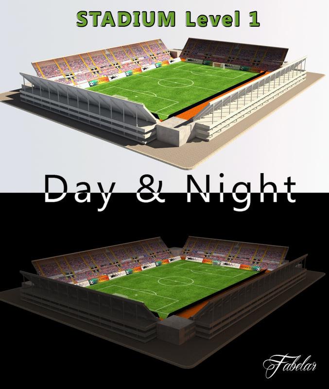 3d model stadium level 1