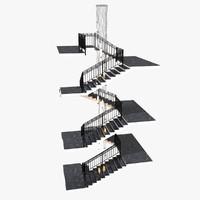 3d marble stairs lamp slv model