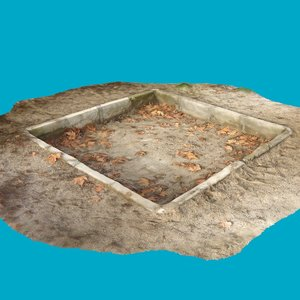 3d model of old children s sandpit