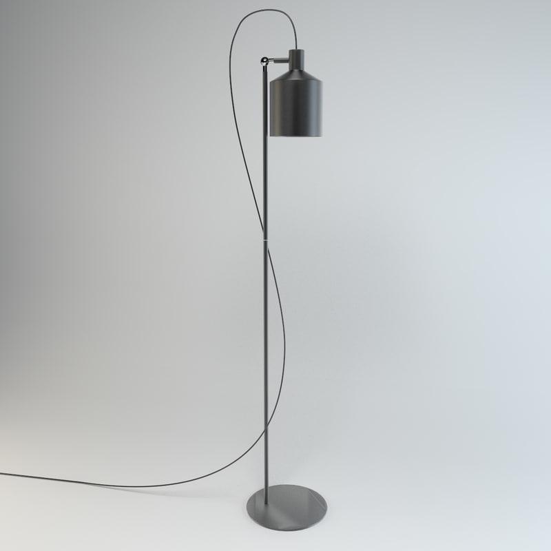zero lighting silo floor lamp 3d max