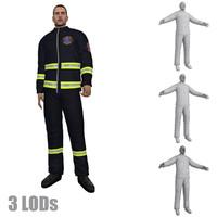 rigged paramedic lod s 3d max