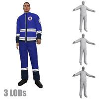 rigged paramedic lod s fbx