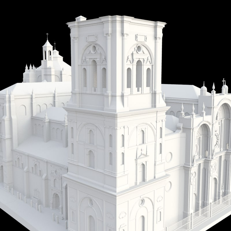free 3ds model cathedral