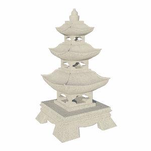garden pagoda obj