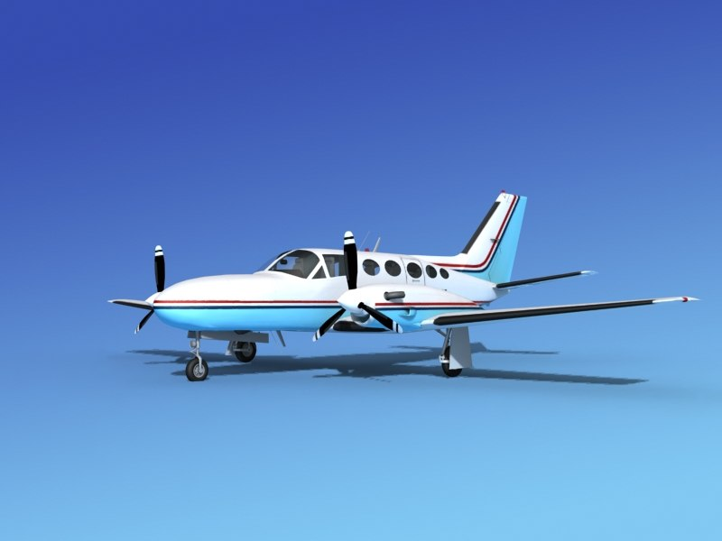 3d model of scale cessna 425 conquest