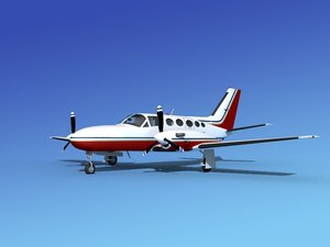 scale cessna 425 conquest 3d model